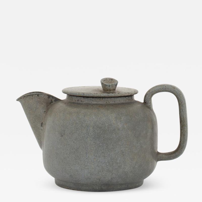 Arne Bang Tea pot in grey blue glaze