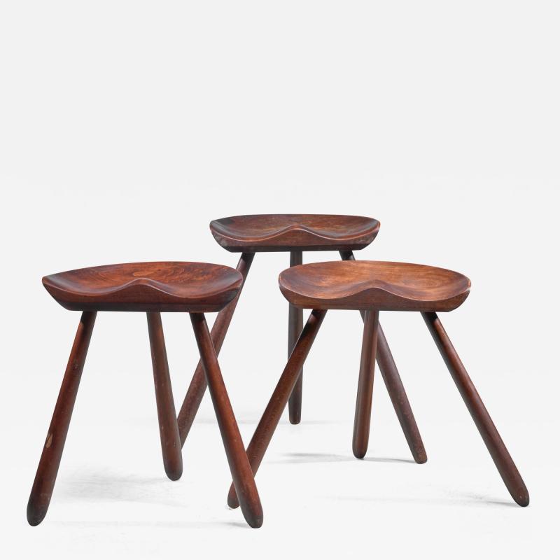 Arne Hovmand Olsen Arne Hovmand Olsen set of three tripod stools