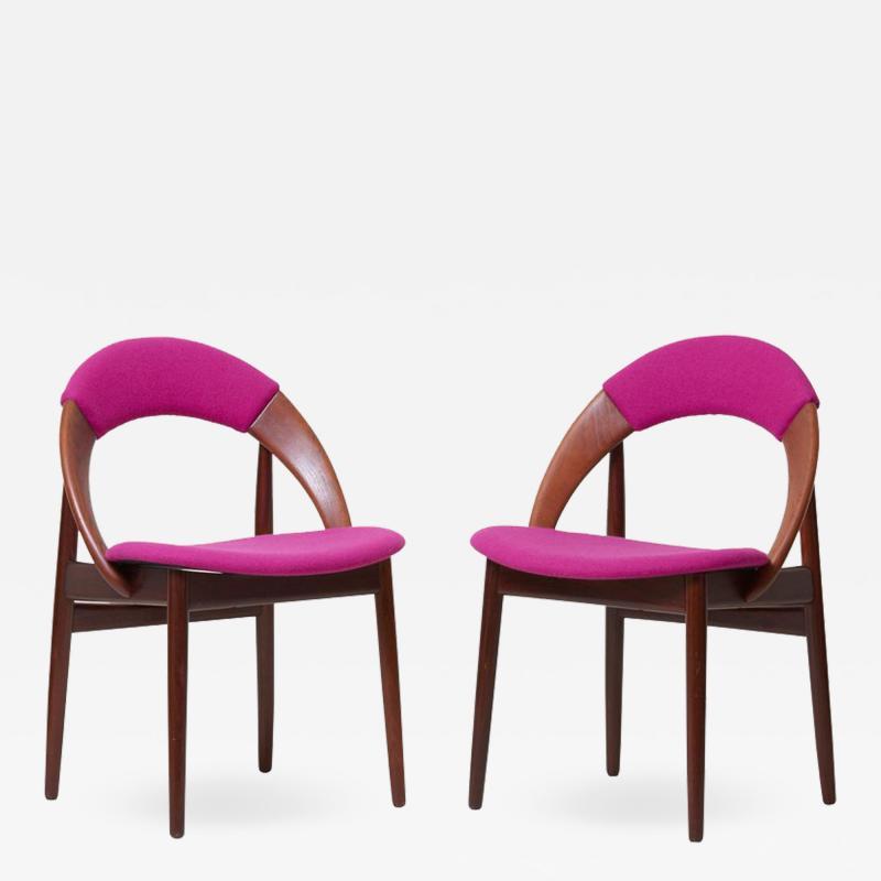 Arne Hovmand Olsen Pair of Rare Dining Chairs in Teak by Arne Hovmand Olsen
