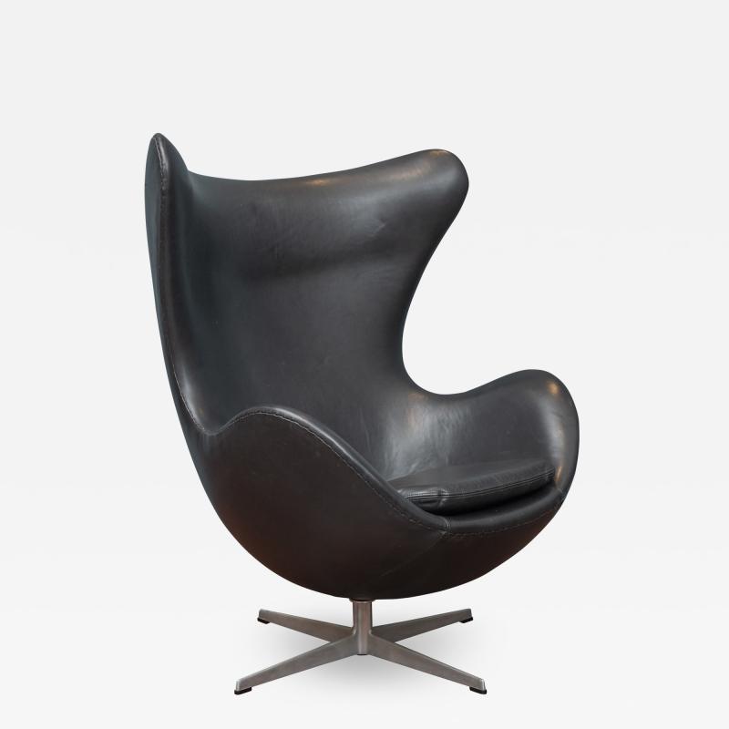 Arne Jacobsen Arne Jacobsen Leather Egg Chair for Fritz Hansen