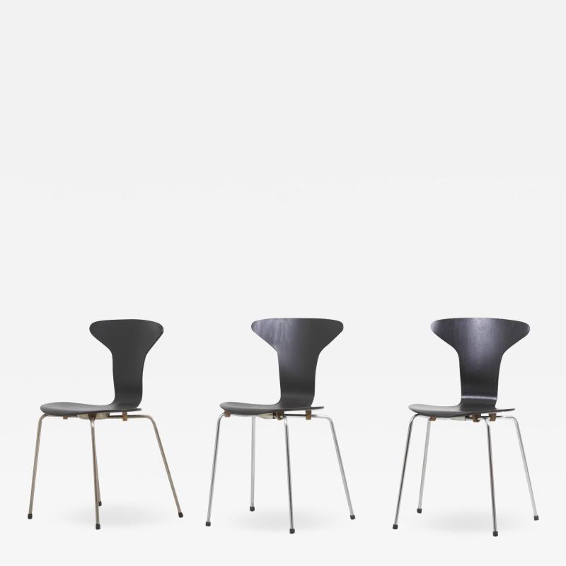Arne Johansen Set of 3 Mosquito Munkeg rd Dining Chairs by Arne Jacobsen Denmark 1950s