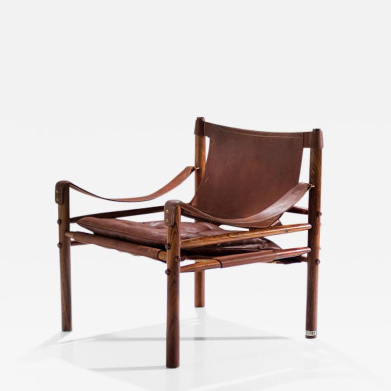 Arne Norell Arne Norell Sirocco Safari Chair in Brown Leather Sweden 1964