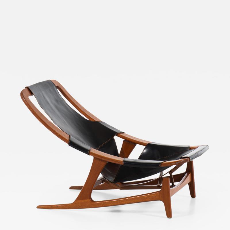 Arne Tidemand Ruud Lounge Chair Model Holmenkollen Produced by Norcraft