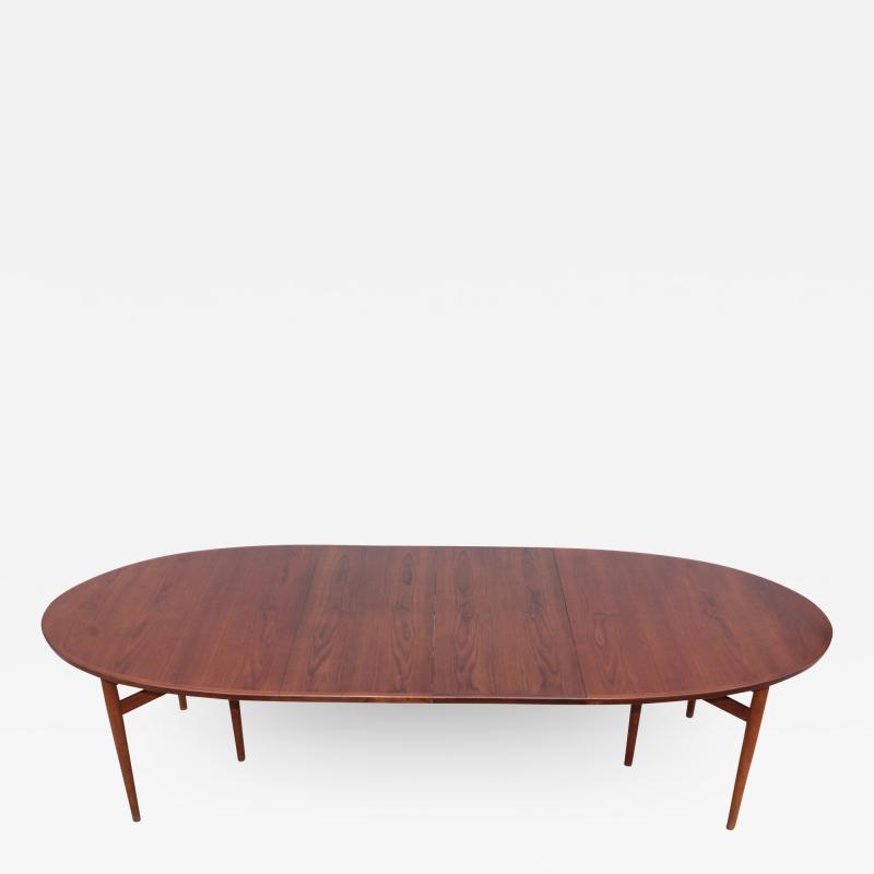 Arne Vodder Arne Vodder Teak Oval Dining Table Model 212