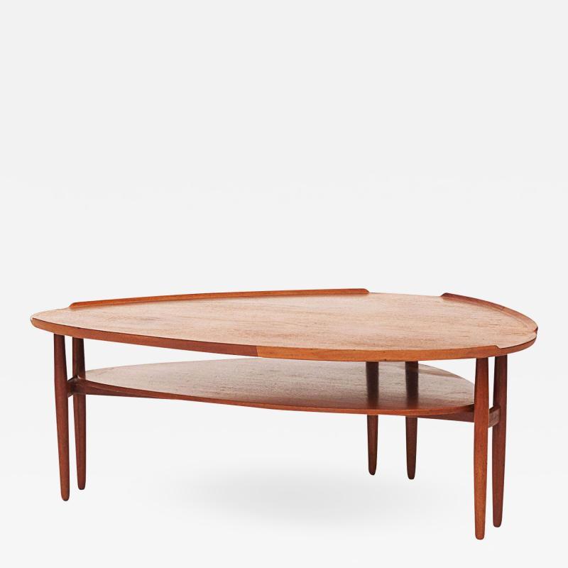 Arne Vodder Scandinavian Modern Arne Vodder Kidney Form Teak Coffee Table circa 1960s