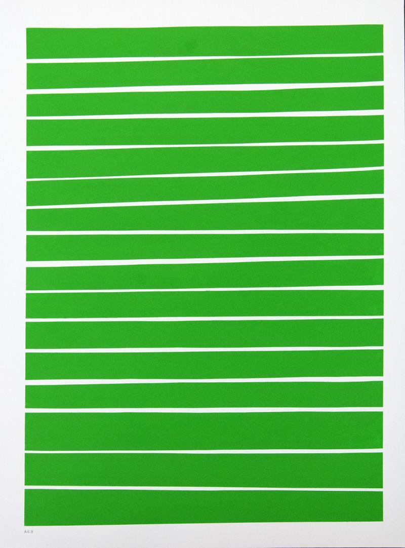 Aron Hill 16 Light Green Lines
