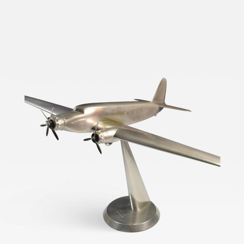 Art Deco Airplane Display Presentation Desk Model Fiat Italy