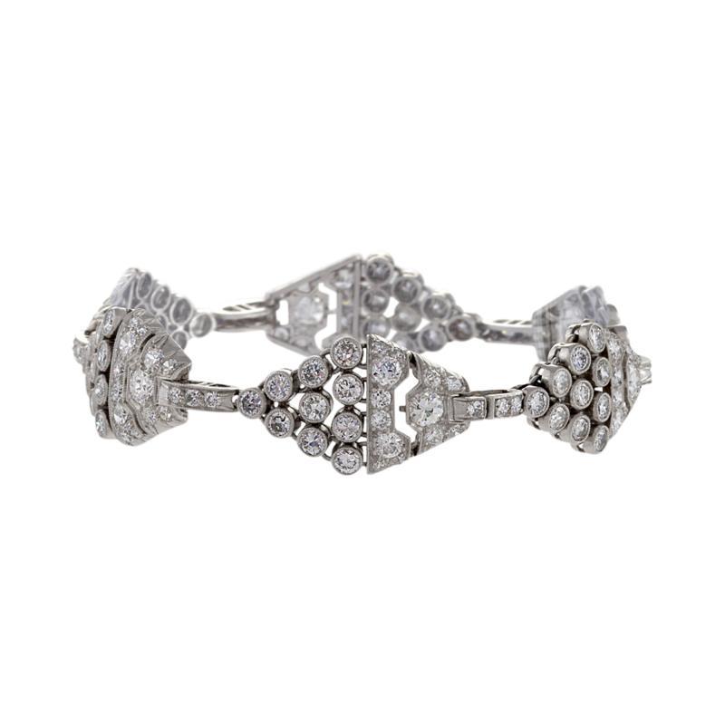 Art Deco Diamond and Platinum Bracelet