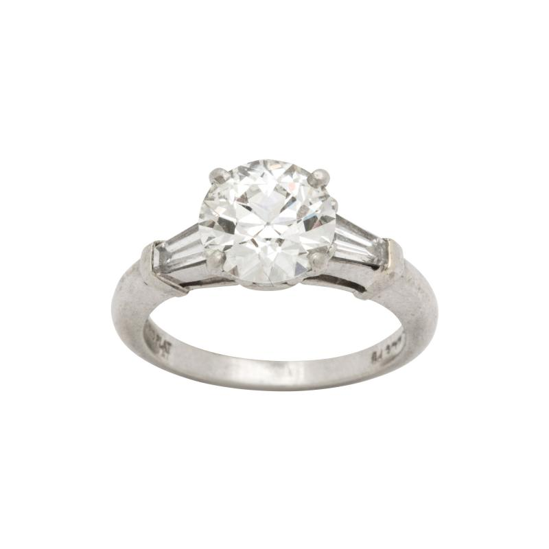 Art Deco GIA VS2 I Diamond and Platinum Engagement Ring