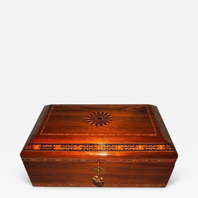Art Deco Humidor with Intricate Inlay