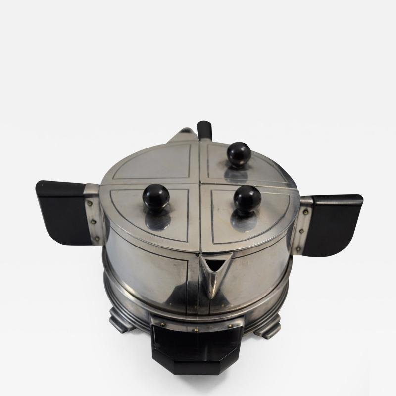Art Deco Modern Avant Garde Tea Set by Wilcox Jean Theobald Virginia Hamill