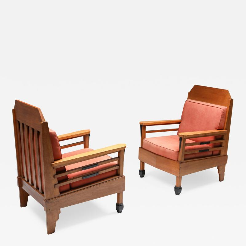Art Deco Pair of Club Chairs Europe 1960s