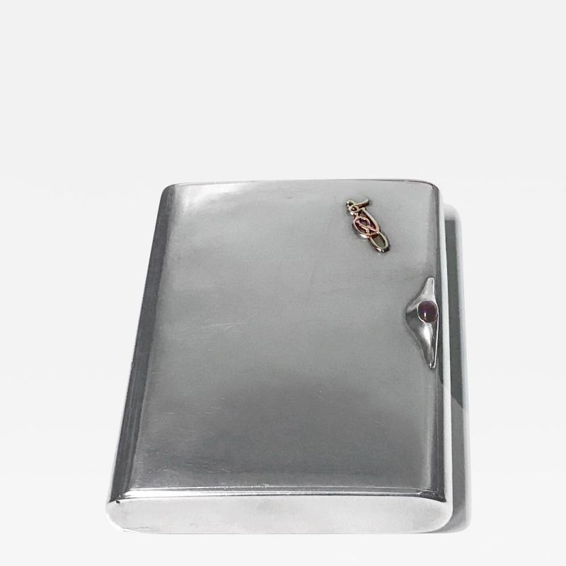 Art Deco Silver Cigarette Case Box Estonia C 1925