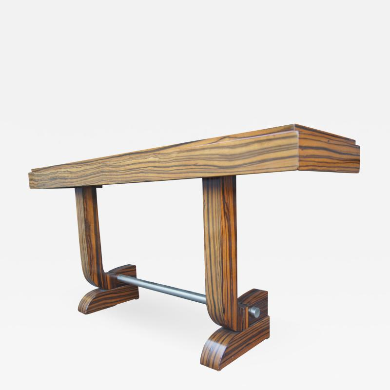 Art Deco Style Zebrawood Console Table
