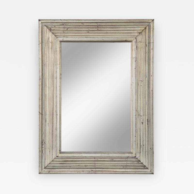 Art Deco Swedish Silvered Wood Framed Mirror