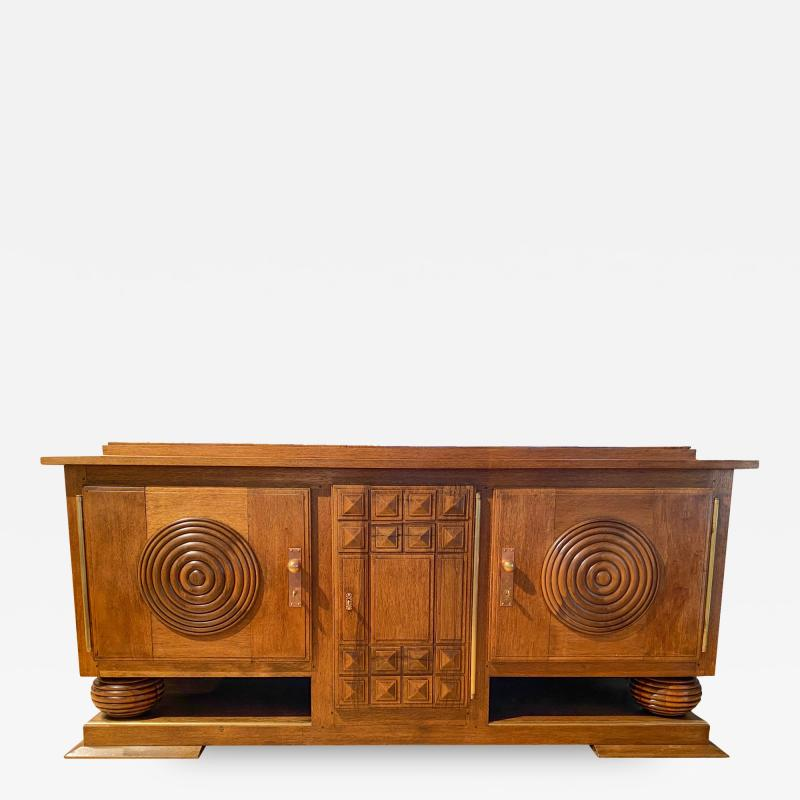 Art Deco Walnut Sideboard circa 1940 France