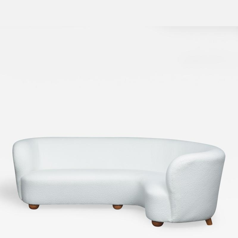 Stupendous Art Deco Sofa In Boucle Ecru Fabric Gmtry Best Dining Table And Chair Ideas Images Gmtryco