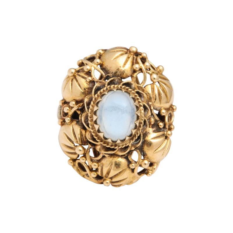Art nouveau moonstone ring