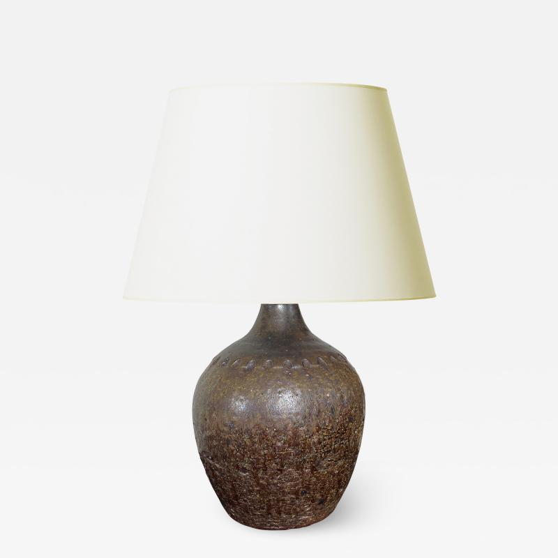 Arthur Andersson Lamp with Crenelated Detail by Arthur Andersson for Wallakara