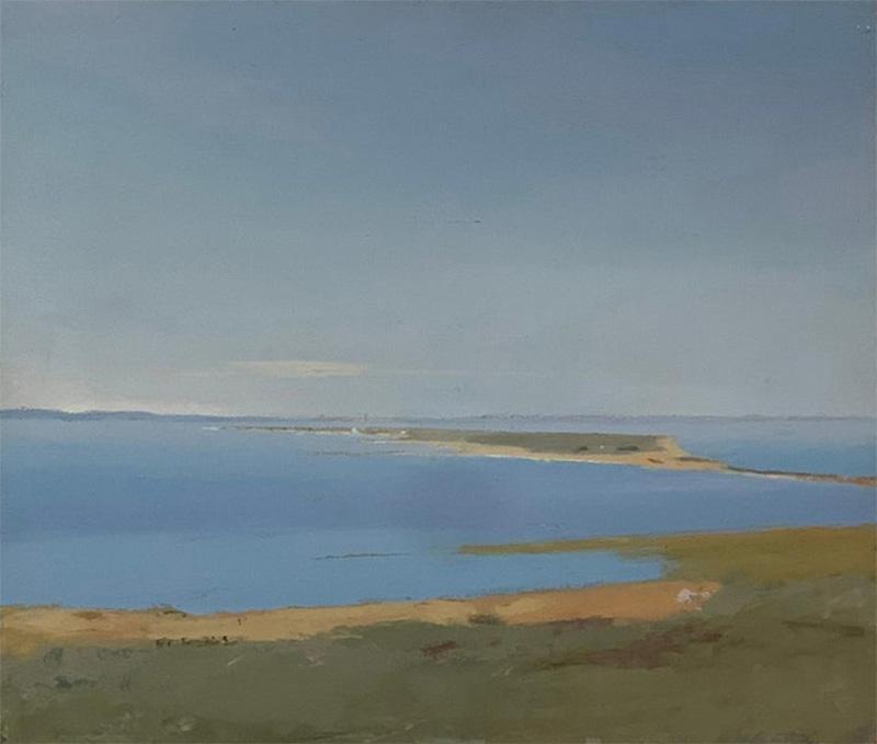 Arthur Cohen Arthur Cohen Oil on Canvas Sandy Hook from Twin Lights 1987