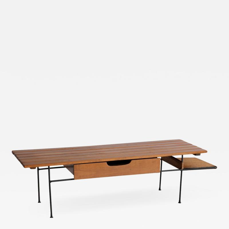 Arthur Umanoff ARTHUR UMANOFF BENCH OR TABLE WITH DRAWER AND SHELF