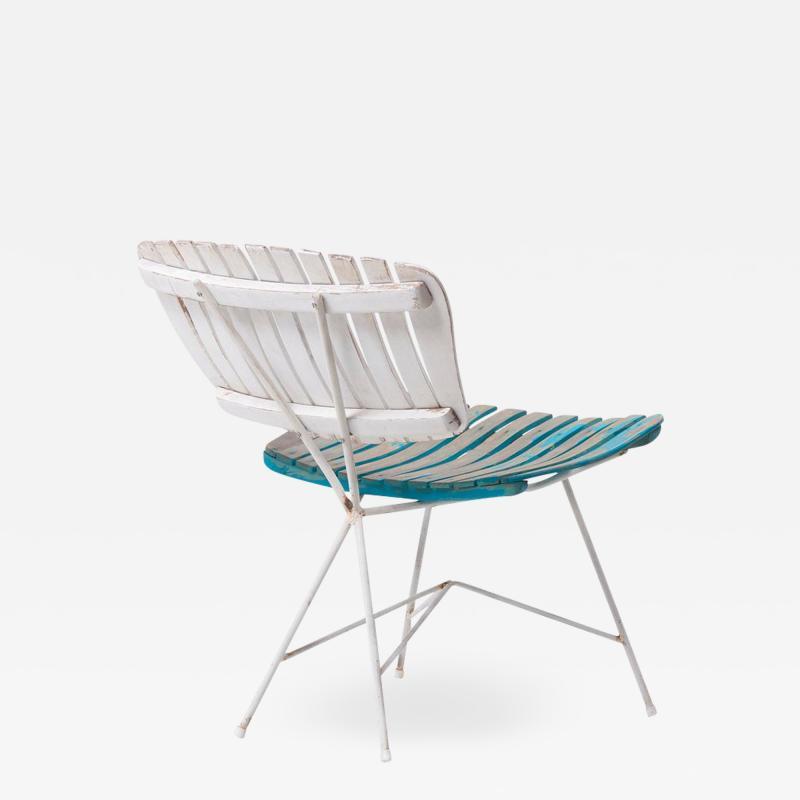 Arthur Umanoff Wood Slat and Iron Low Lounge Chair by Arthur Umanoff for Raymor US 1950s
