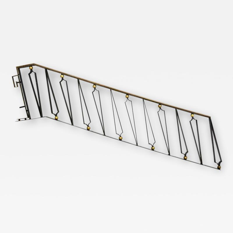 Arturo Pani Mexican Modernist Iron Staircase Handrail by Talleres Chacon for Arturo Pani