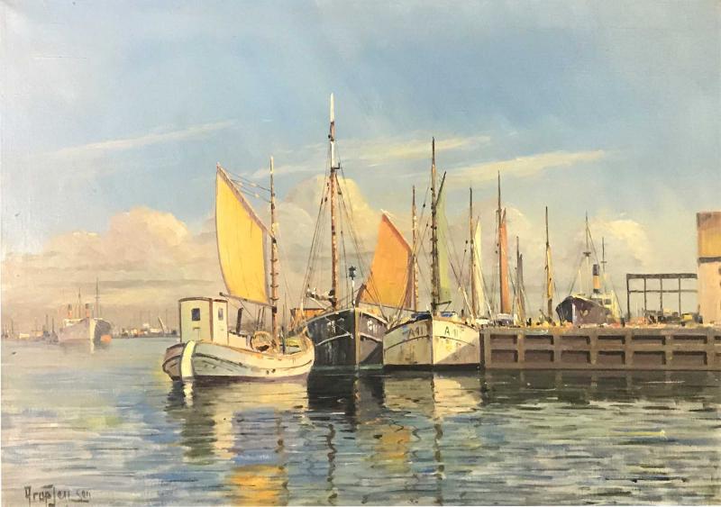 Arup Jensen Jensen 1906 1956 Danish Harbor W Sailing 1940s