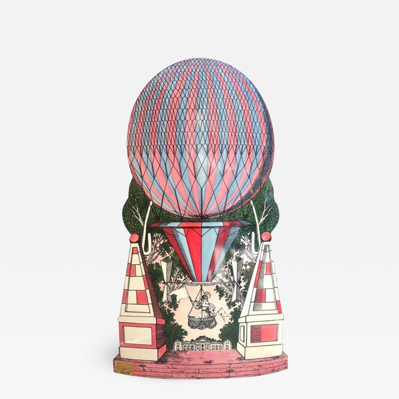 Atelier Fornasetti Mid Century Hollywood Regency Fornasetti Umbrella Stand Hot Air Balloon Motif