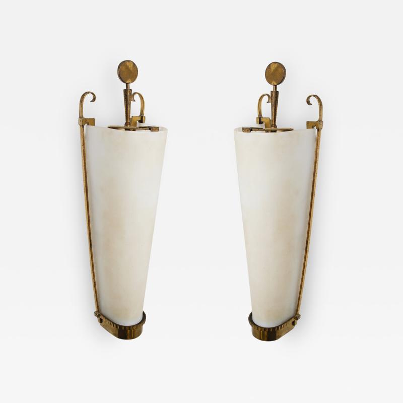 Atelier Petitot Important Pair of Sconces by PETITOT 1930