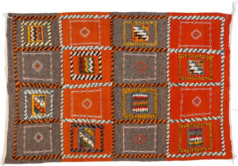 Atlas Showroom Berber Medium Rug Tribal Handwoven Wool 100 Organic Dye
