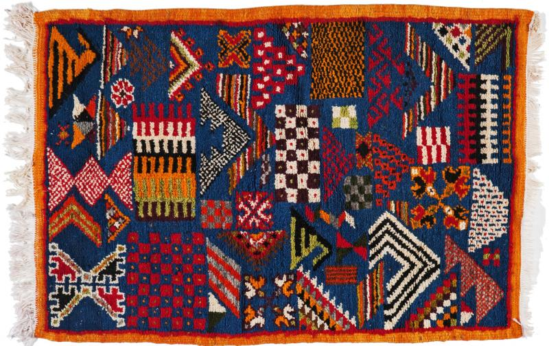 Atlas Showroom Berber Small Rug Handwoven with Abstract and Geometric Designs