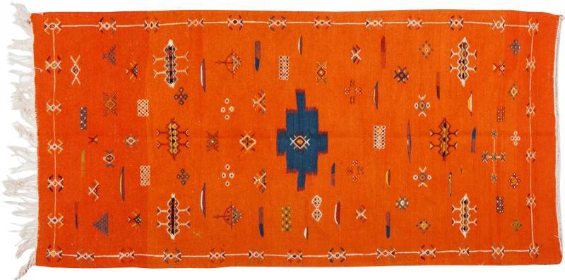 Atlas Showroom Berber Tribal Handwoven Wool Rug Medium