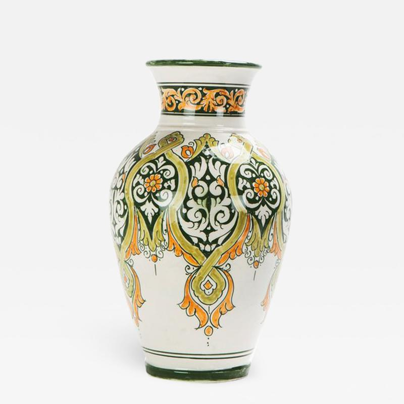 Atlas Showroom Hand painted Jana Green Large Vase