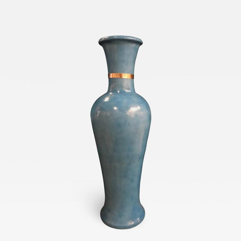 Atlas Showroom Moroccan Hand Painted Blue Vase