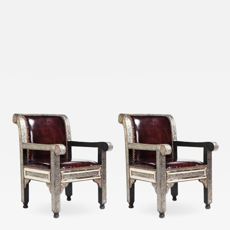 Atlas Showroom Moroccan Idrisid Pair of Chairs