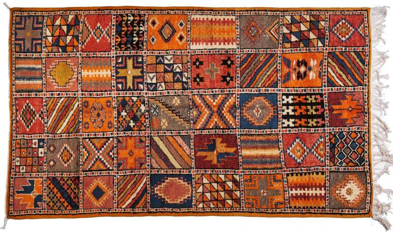 Atlas Showroom Moroccan Large Rug Handwoven Wool with Geometric Designs