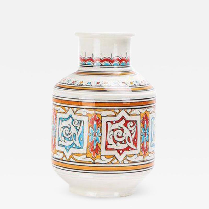 Atlas Showroom Moroccan Multicolor Handcrafted Ceramic Vase