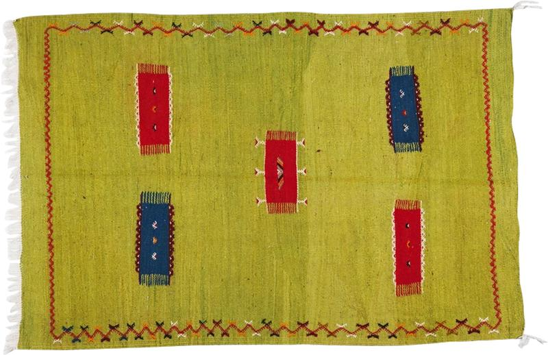 Atlas Showroom Moroccan Rug Berber Tribal Handwoven Wool with Organic Dye