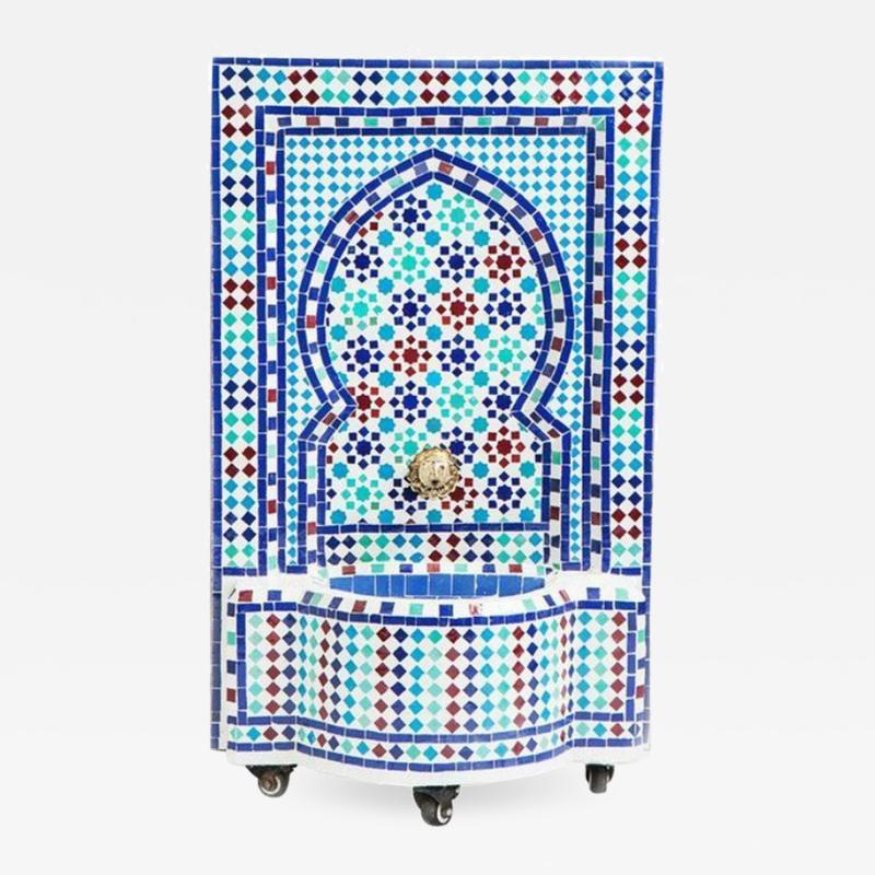 Atlas Showroom Mosaic Mediterranean Water Fountain