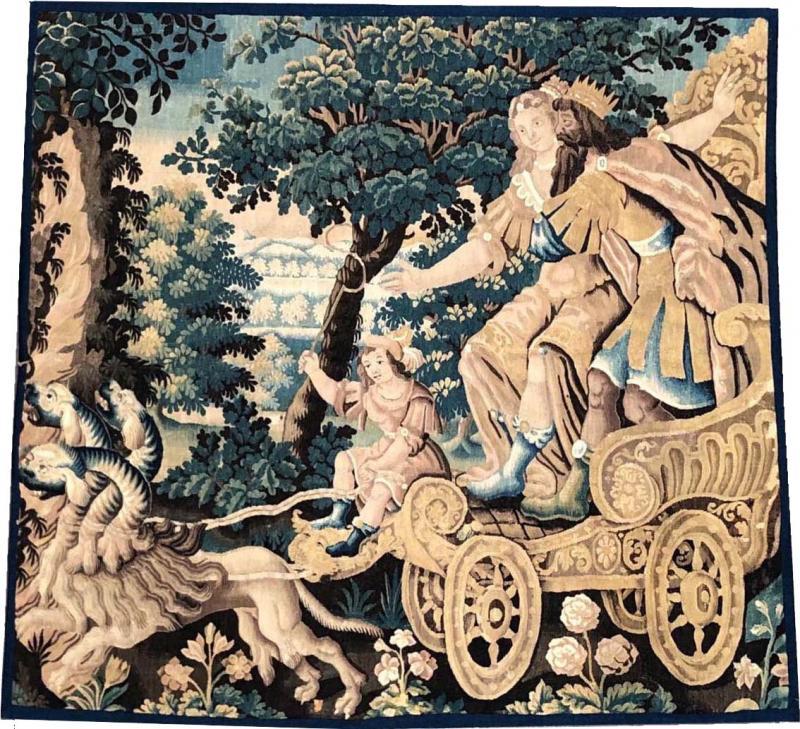 Aubusson Atelier 17th Century Mythological Aubusson Tapestry The Rape of Proserpina