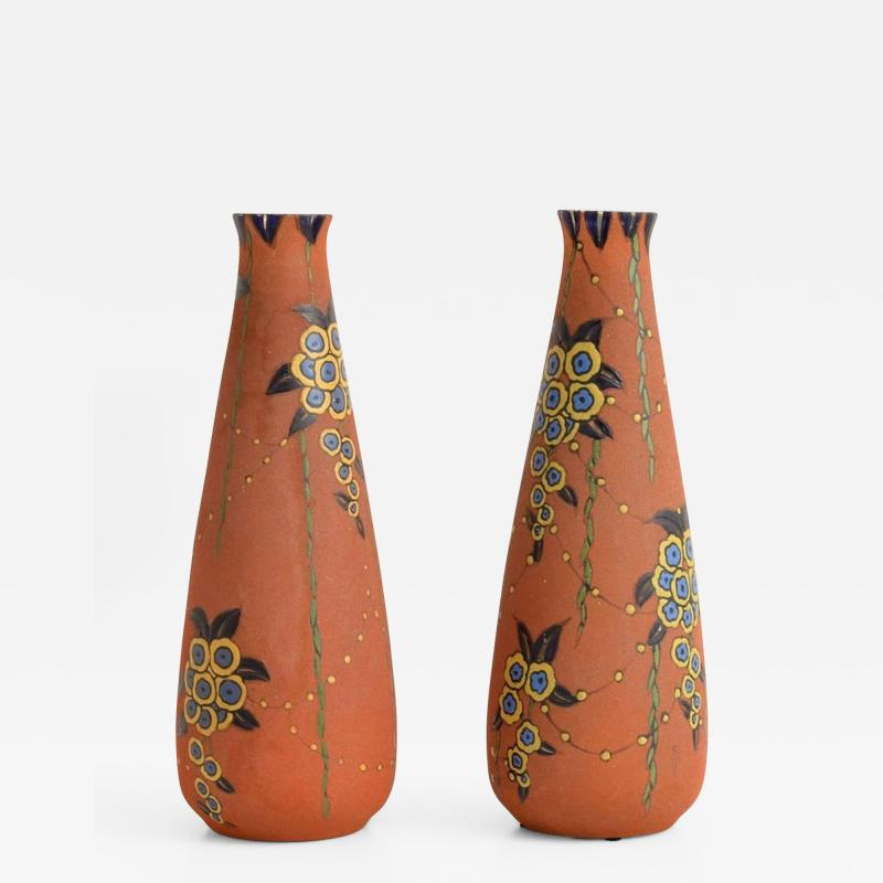 Auguste Heiligeinsten Pair of Large Auguste Heiligeinsten for Leune Vases