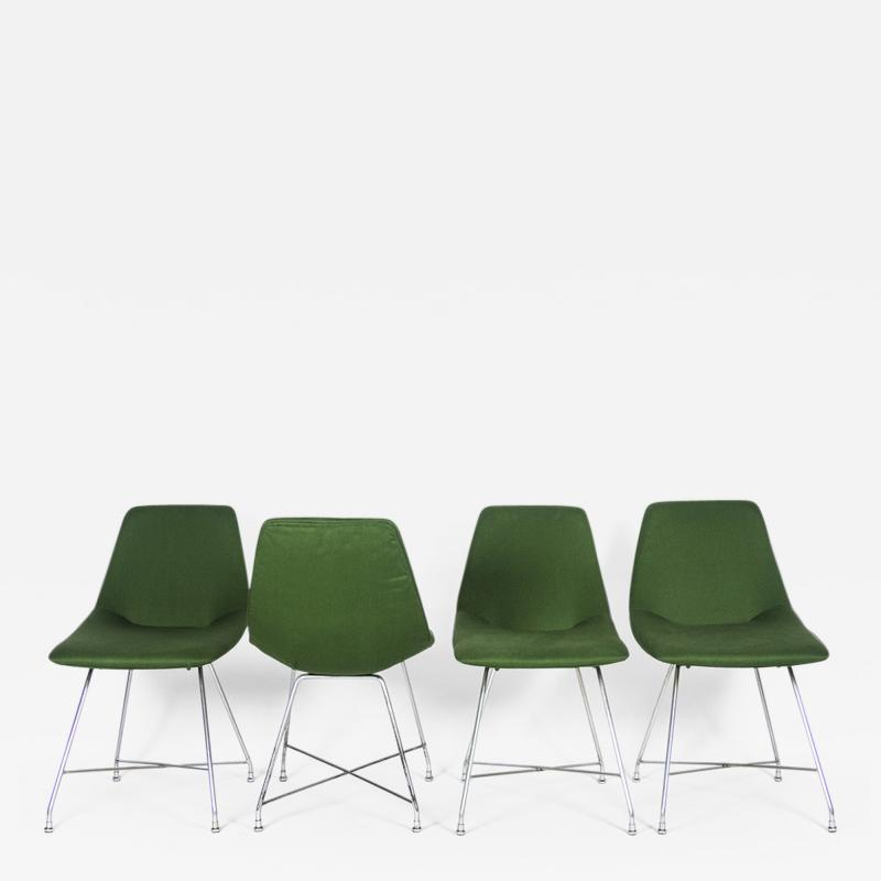 Augusto Bozzi 4 Aster chairs by for Saporiti 1954