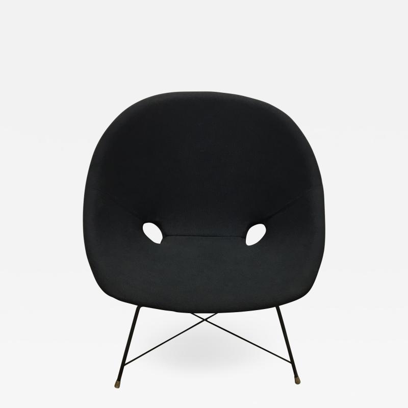 Augusto Bozzi Black Italian Cosmos Lounge Chair by Augusto Bozzi for Saporiti