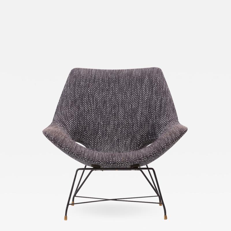 Augusto Bozzi Lounge Chair by Augusto Bozzi for Saporiti Italy 1950s