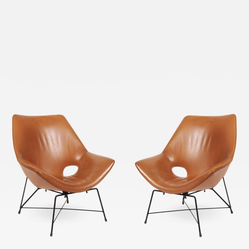 Augusto Bozzi Pair of Kosmos armchairs