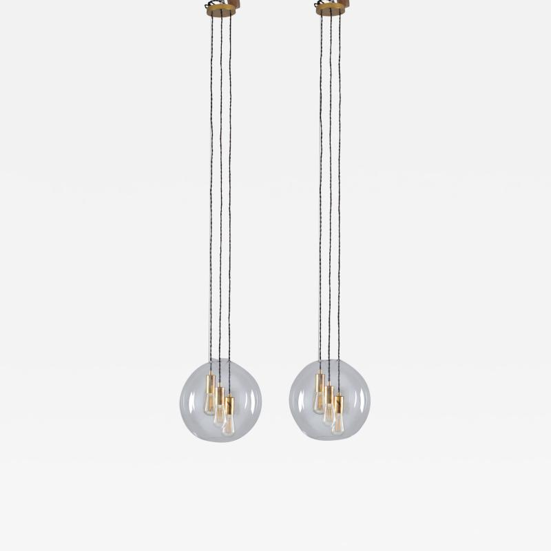 Axel Anell Swedish Midcentury Ceiling Lamps by AOS for Axel Anell