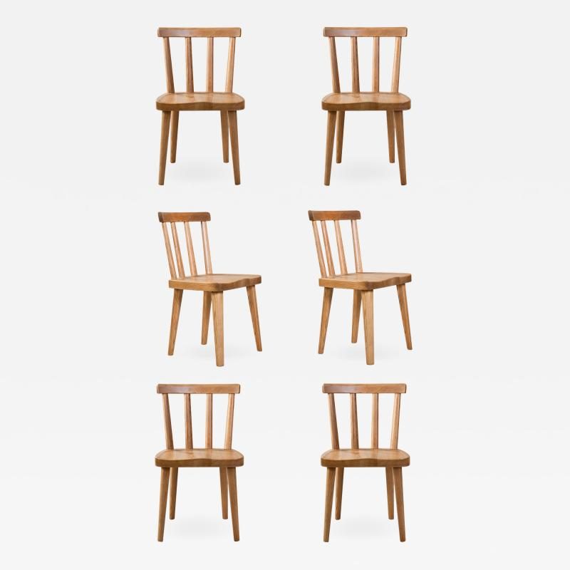 Axel Einar Hjorth Axel Einar Hjorth for Nordiska Kompaniet Pair of Swedish Solid Pine Ut Chairs