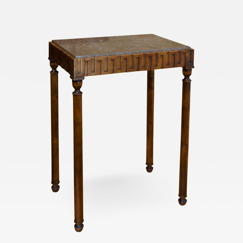 Axel Einar Hjorth Coolidge Side Table in Birch and Marble by A E Hjorth for NK