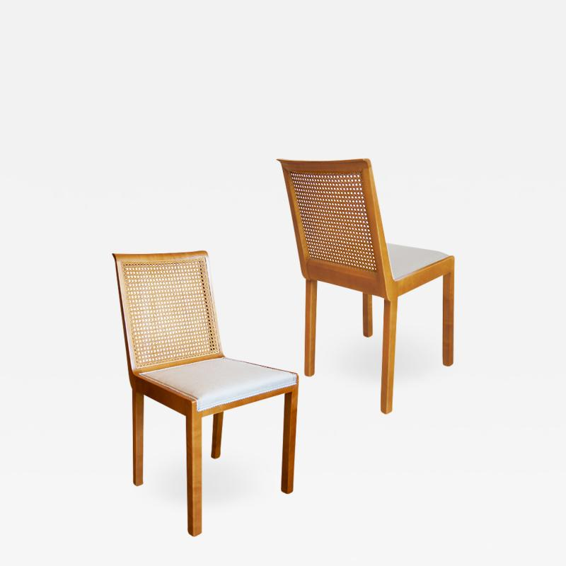 Axel Einar Hjorth Pair of Corall Chairs in Birch by Axel Einar Hjorth for Nordiska Kompaniet